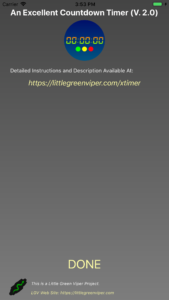 Info Screen