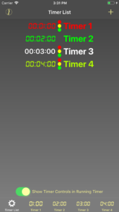 The Timer List Page